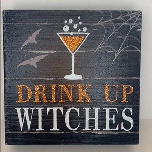 Drink Up Witches glitter frame